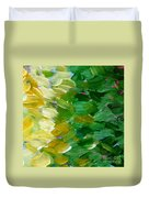 Yellow Green - Abstract Duvet Cover