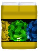 Yellow Green And Blue Duvet Cover
