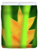 Yellow Heliconia - Tropical Hawaii - 957 Duvet Cover
