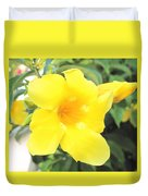Yellow Hibiscus St Kitts Duvet Cover