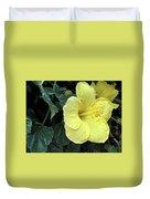 Yellow Hibiscus Watercolor Duvet Cover