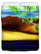Yellow Hills Revisited Duvet Cover