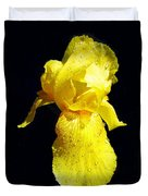 Yellow Iris After The Rain Duvet Cover