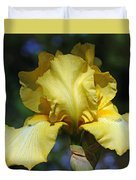 Yellow Iris Is For Passion Duvet Cover