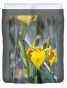 Yellow Iris Wild Flower Duvet Cover