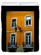 Yellow Italian Building Duvet Cover