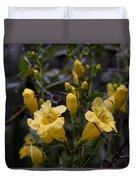 Yellow Jessamine With Raindrops Duvet Cover
