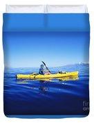 Yellow Kayak Duvet Cover