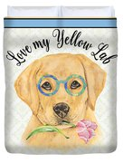 Yellow Lab-jp3869 Duvet Cover