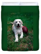 Yellow Labrador Retriever Puppy Duvet Cover