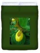 Yellow Lady's Slipper Duvet Cover