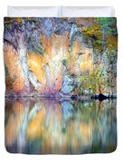 Yellow Lake Abstract Duvet Cover