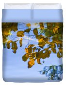 Yellow Leaf Reflections Duvet Cover