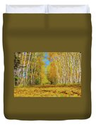 Yellow Leaf Road Duvet Cover