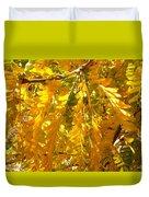 Yellow Leaves Duvet Cover