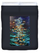 Yellow Light On Dark Water Duvet Cover