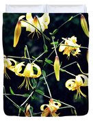 Yellow Lilies In Fort Tryon Park Duvet Cover