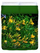 Yellow Lily Flowers Duvet Cover
