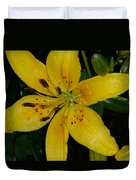 Yellow Lily Duvet Cover