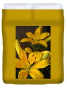 Yellow Lily Mirror Duvet Cover