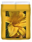 Yellow Lily Shines Brightly  Duvet Cover