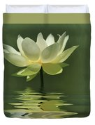 Yellow Lily With Reflections Duvet Cover