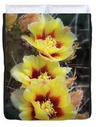 Yellow Long- Spined Prickly Pear Cactus  Duvet Cover