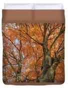 Yellow Maple Tree Duvet Cover