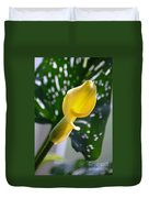 Yellow Mini Calla Lilies Duvet Cover