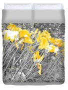 Yellow Moment In Time Duvet Cover