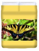 Yellow Monarch Butterfly On Milkweed #2 Duvet Cover