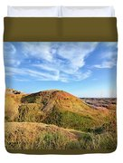 Yellow Mounds Duvet Cover