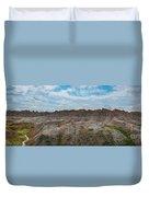 Yellow Mounds Panorama At Badlands South Dakota Duvet Cover