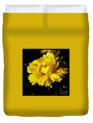 Yellow Mum With Raindrops Duvet Cover