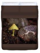 Yellow Mushroom Duvet Cover