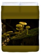 Yellow Mushrooms Duvet Cover