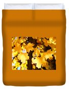 Yellow Nature Tree Leaves Art Prints Bright Baslee Troutman Duvet Cover
