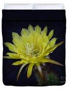 Yellow Night Blooming Cactus  Duvet Cover