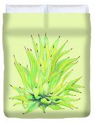 Yellow Octopus Agave Duvet Cover