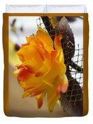 Yellow-orange Flower Duvet Cover