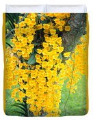 Yellow Orchids Duvet Cover
