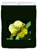 Yellow Pansy Duvet Cover
