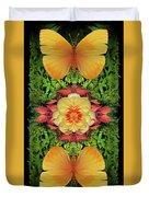 Yellow Peony Duvet Cover