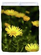 Yellow Petals Duvet Cover