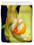 Yellow Phaelanopsis Duvet Cover