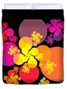 Yellow Pink Red Orbs Duvet Cover