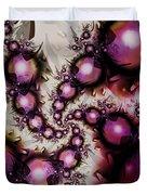 Yellow Pink Spiral Art Duvet Cover