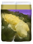 Yellow Pitch Duvet Cover