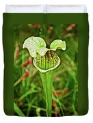 Yellow Pitcher Plant  In Huntington Botanical Gardens In San Marino-california  Duvet Cover