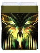 Yellow Plumes Duvet Cover